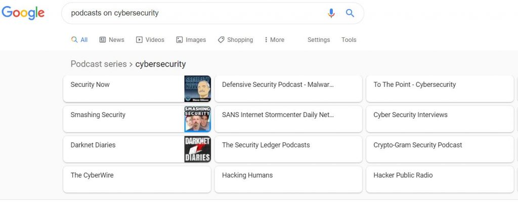 podcast list on cybersecurity